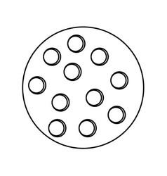 golf ball sport vector image