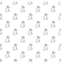golfing bag pattern seamless vector image