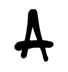 Graffiti style letter a with a spray in black over vector