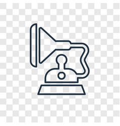 gramophone concept linear icon isolated on vector image