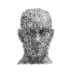 Head human face wireframe technology vector