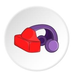 Headphones icon cartoon style vector