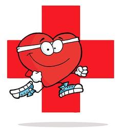 Heart excercise cartoon vector