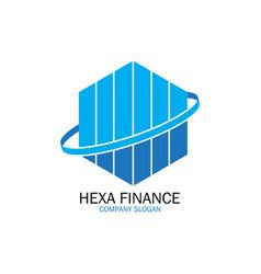 hexa finance for company logo vector image