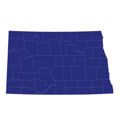 high quality map a state united states of vector image