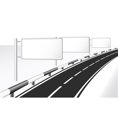 highway and banner ads vector image