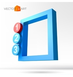 Infographic 3D frame with numbered options vector