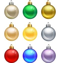 Isolated christmas balls set vector