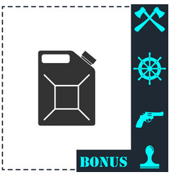 jerrycan oil icon flat vector image