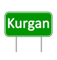 Kurgan road sign vector