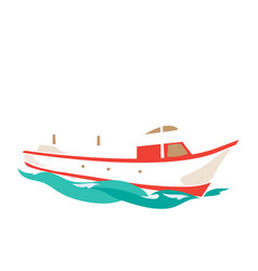 leisure ship on water vector image