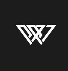 logo w vector image
