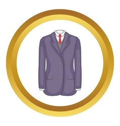 Men suit icon vector image