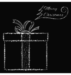 Merry christmas lights card vector