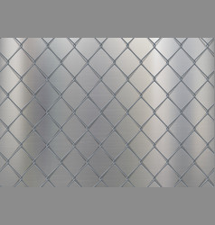 metal textured background with wire grid vector image