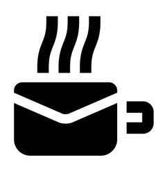 Morning mail icon vector image