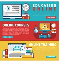 Online education training courses or webinars vector