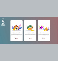 online payment concept app templete vector image