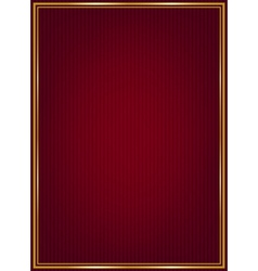 Red texture and golden frame vector image vector image