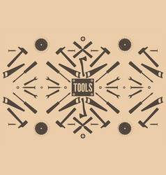 Retro abstract background with tools vector