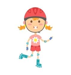 Roller girl vector image