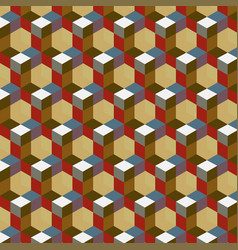 seamless abstract cube pattern colorful design vector image