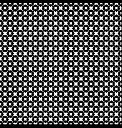 seamless pattern black white geometric figures vector image