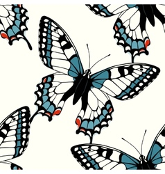 Seamless pattern with decorative machaon vector