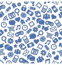 Seamless Social Media Patterns vector