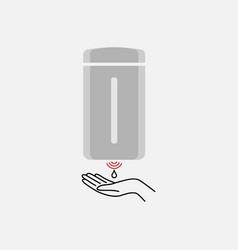 Sensor soap dispenser simple modern icon design vector
