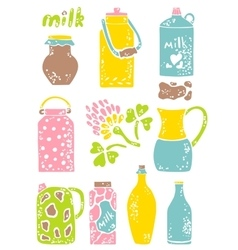 Set of milk things vol 1 vector