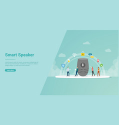 smart speaker for website template or landing vector image