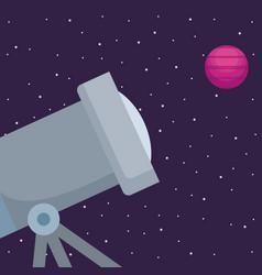space telescope design vector image