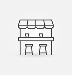 Street bar outline icon - design element vector