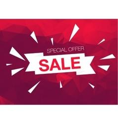 Super Sale Special Offer banner on red background vector