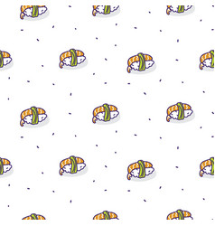 sushi shrimp seamless pattern vector image