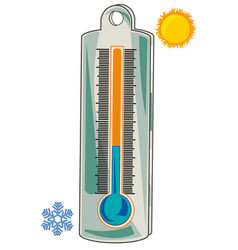 thermometer for measurement of the temperature of vector image
