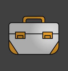 Tool box color icon vector