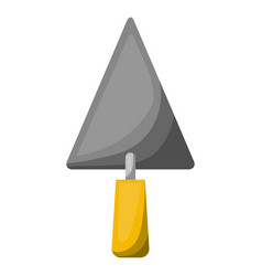 trowel flat icon colorful silhouette with half vector image
