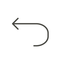 Undo icon line back symbol vector