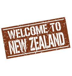 Welcome to new zealand stamp vector