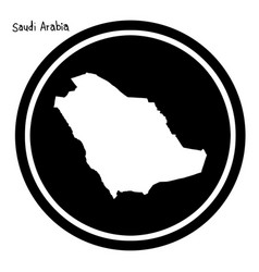 White map of saudi arabia on black vector