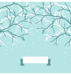 Winter background design with stylized tree vector image