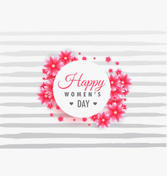 Womans day 8th march lettering on beautiful vector