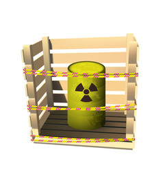 yellow barrel with toxic waste vector image