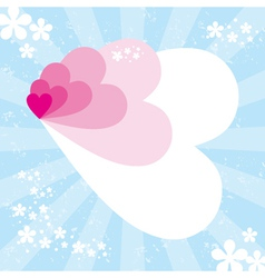 abstract hearts composition background vector image