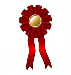 award rosette vector image vector image