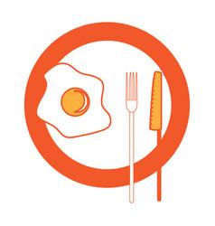 breakfast food design vector image