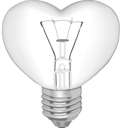 Bulb in the form of heart vector image vector image