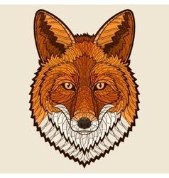 Fox head vector image vector image